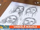 Vājredzīgs mākslinieks zīmē unikālus portretus