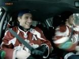 Trīs Rīgas Dinamo hokejisti sacenšas pie Kia Sportage stūres