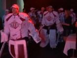 """""""Dinamo"""" Arēnā Rīga savu līdzjutēju priekšā svinīgi atzīmēja sezonas noslēgumu"""