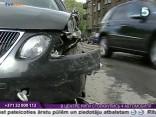 В Центре Риги столкнулись 4 автомобиля