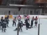 """Kaut kas neredzēts: Tiesnesis iesit hokejistam, treneris """"izslēdz""""arbitru"""