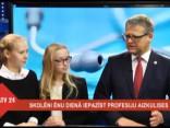 """Ēnu dienā """"ēnas"""" diskutē ar veselības ministru Belēviču par produktu aizliegumiem skolu ēdnīcās"""