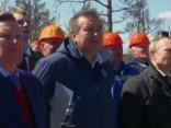 Vladimirs Putins vēro Krievijas raķetes palaišanu