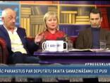 TV producents Zveja, Grende un Putnis saplēšas, apspriežot negodīgo ierēdniecību un nodokļu politiku