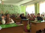 Школьники поздравляют Латвию с Днём провозглашения Латвийской Республики