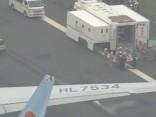 """Japānā evakuē """"Korean Airlines"""" lidmašīnu, kurai aizdedzies dzinējs"""