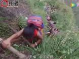 Bīstamais ceļš uz skolu Ķīnā - pa vītņu kāpnēm lejup pa krauju