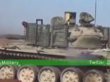 Kaujas netālu no Alepo Sīrijā