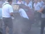 Atgadījuma vieta Kijevā uzreiz pēc sprādziena