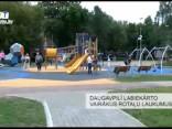 Daugavpilī labiekārto vairākus rotaļu laukumus