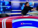 Noskaties: Gruzijā politiķi izvicina dūres tiešajā ēterā