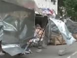 Taifūns Haima Ķīnā; nolauzti koki, izpostīti veikali