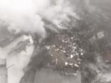 «Turkish Airlines» kravas lidmašīnas katastrofas notikuma vieta no putna lidojuma
