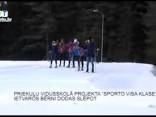 """Priekuļu vidusskolā projekta """"Sporto visa klase"""" ietvaros bērni dodas slēpot"""