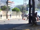 Riodežaneiro policija raida asaru gāzi uz protestētājiem