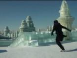 Parkūra paraugstunda ledus pilsētā