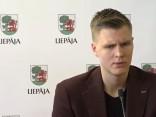 Пресс-конференция Кристапа Порзиньгиса в Лиепае