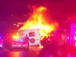 Dallasā pakaļdzīšanās beidzās ar liesmām