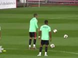 Noskaties: Portugāles izlases treniņš Rīgā