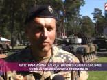 NATO paplašinātās klātbūtnes kaujas grupas svinīgā sagaidīšanas ceremonija