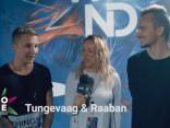 Igaunijas elektroniskās mūzikas DJ un producentu duets Tungevaag & Raaban pirms uzstāšanās dzer šampanieti