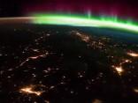 Итальянский космонавт запечатлел северное сияние из космоса