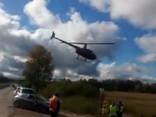 Rallija «Liepāja» laikā nogāžoties helikopteram, viens cilvēks gājis bojā