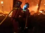 Ugunsdzēsēji cīnās ar ugunsgrēkiem Spānijā