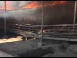 Peru milzu ugunsgrēks iznīcina senu templi