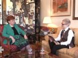"""Saruna ar Latvijas valsts eksprezidenti Vairu Vīķi-Freibergu """"mirkli pirms""""..."""