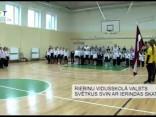 Riebiņu vidusskolā valsts svētkus svin ar ierindas skati