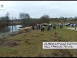 Viļānos Latvijas svētkos peld pāri Maltas upei