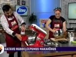 Signe Erdmane gatavo mandeļcepumus makarūnus