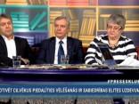 """""""Preses Klubā"""" viesos: Kārlis Šadurskis Aija Strautmane Juris Jansons"""