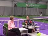 Latvijas tenisa zvaigznes Aļonas Ostapenko preses konference