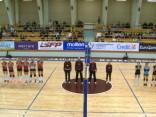 SK «Babīte» volejbolistes intriģējošā finālspēlē izcīna Latvijas kausu.