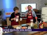 Vija Kilbloka gatavo brazīliešu virtuves gardumus – siera bumbas (brazilian cheese bread) un pudiņu