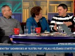 """Preses Klubā"" viesos: Laimdota Straujuma, Armands Puče, Māris Rēvalds"
