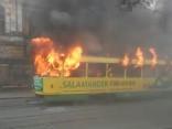 Odesā aizdegas tramvajs; pasažieru vidū – panika
