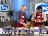 Roberts Lācītis gatavo divu veidu mencu - ar sīpoliem un āboliem