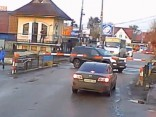 Trilleris uz dzelzceļa pārbrauktuves Ukrainā