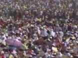 Pāvesta Franciska brīvdabas misi Peru apmeklē vairāk nekā miljons cilvēku