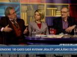 """""""Preses Klubā"""" viesos: Lolita Čigāne, Mārcis Auziņš, Pēteris Šmidre"""