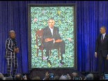 Atklāti Obamu pāra oficiālie portreti
