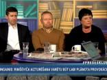 """""""Preses Klubā"""" viesos: Vjačeslavs Dombrovskis, Elita Veidemane un Māris Rēvalds"""