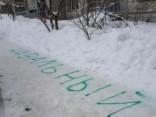 """Kā Krievijā tīra sniegu - uzraksti """"Navaļnijs"""" un sniega nebūs!"""