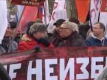 Demonstrācijā Maskavā piemin pirms trim gadiem noslepkavoto Ņemcovu