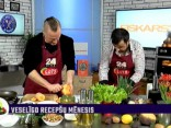 Juris Kaukulis gatavo ķirbju-kartupeļu kūku ar valriekstiem