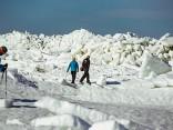 Noskaties: TVNET meklē lielāko ledus krāvumu Latvijā