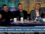 """""""Preses Klubā"""" viesos: Jānis Jenzis, Ivars Zariņš un Filips Rajevskis"""